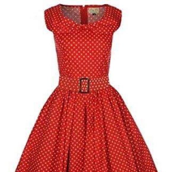"5f18c4a50344 Lindy Bop Dresses & Skirts - Lindy Bop ""Hetty"" Red Polka Dot Swing Dress"